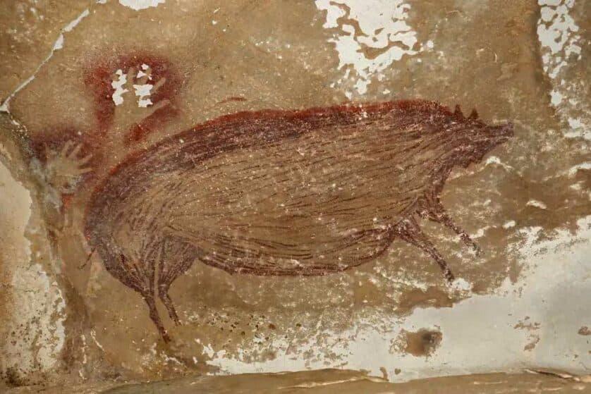 pintura rupestre más antigua en celebes Indonesia (3)(1)