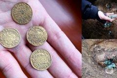 tesoro con miles de monedas medievales en Hungría