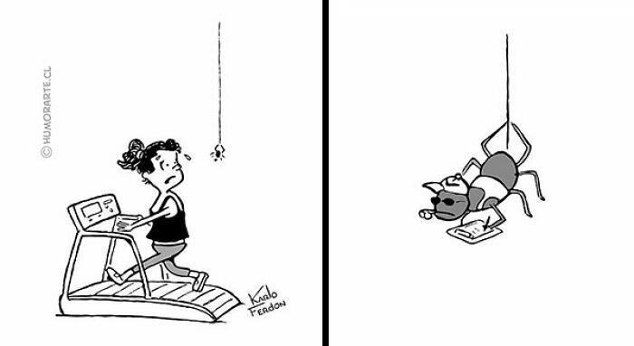 araña tira comica
