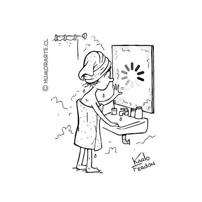 espejo digital cargando tira comica