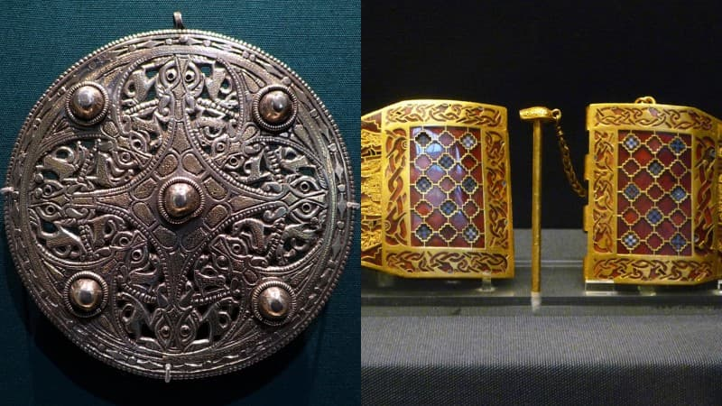reliquias de Sutton Hoo