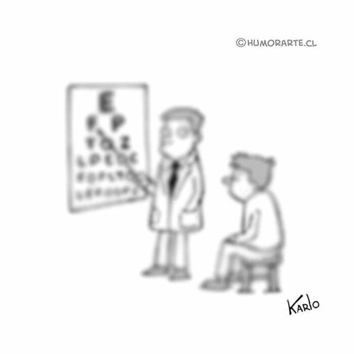 tira comica examen de la vista