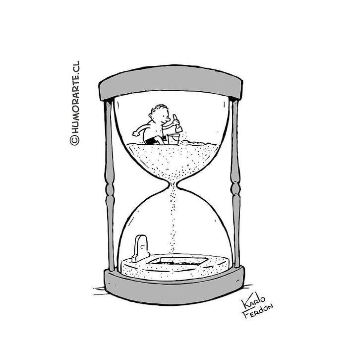 trira comica sobre el tiempo