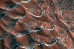 dunas agua congelada en Marte