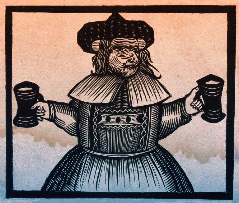 mujer cervecera del siglo XV
