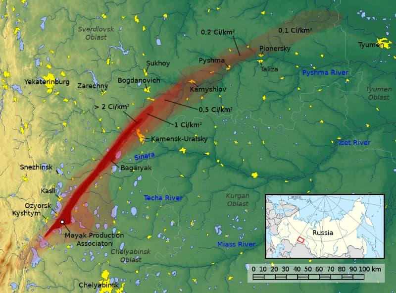 Accidente de Kyshtym nube radiactiva
