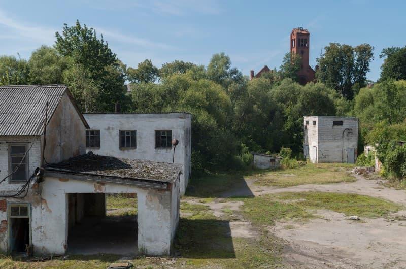 Fabrica de queso abandonada en Ozersk