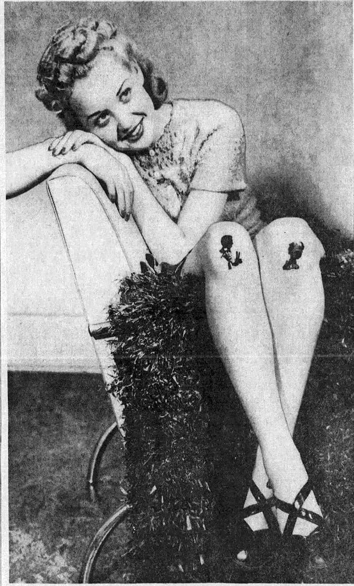 diseños en las rodillas moda 1920