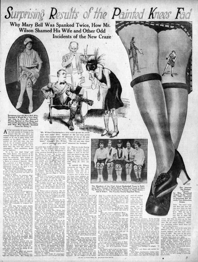 rodillas pintadas moda