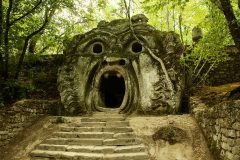 Escaleras en los bosques