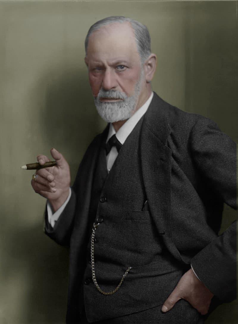 Sigmund Freud foto a color