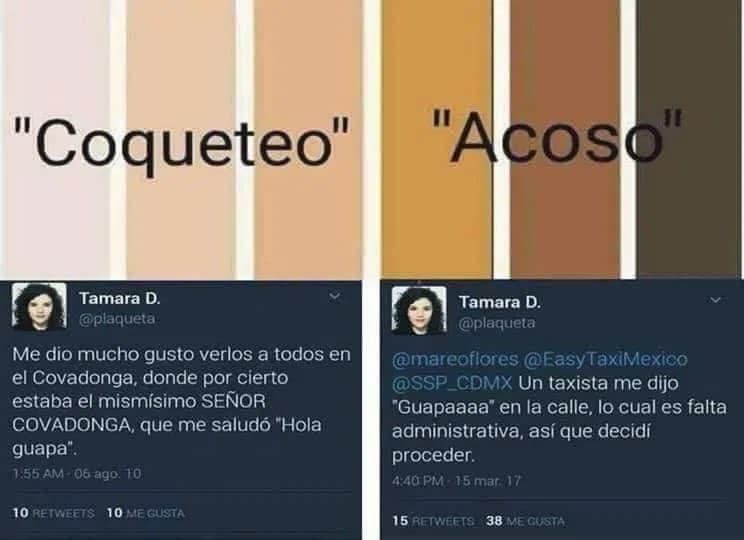coqueteo vs acoso