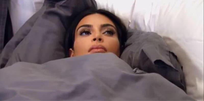 kim kardashian dormida