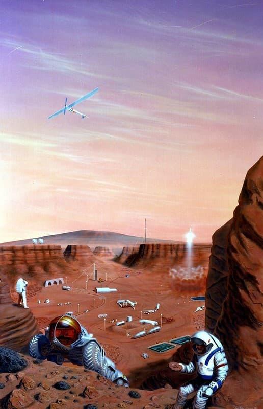 Astronautas Colonizando un planeta