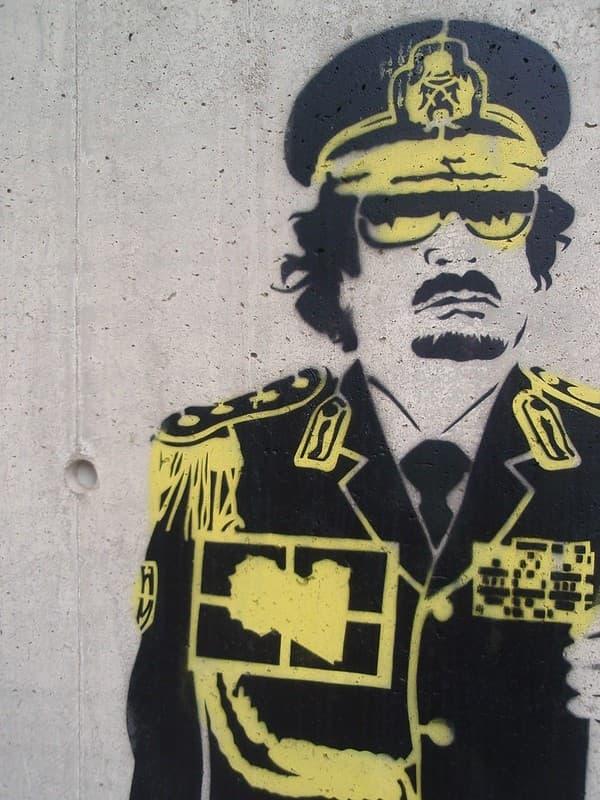 Muhamad Gadafi Stencil
