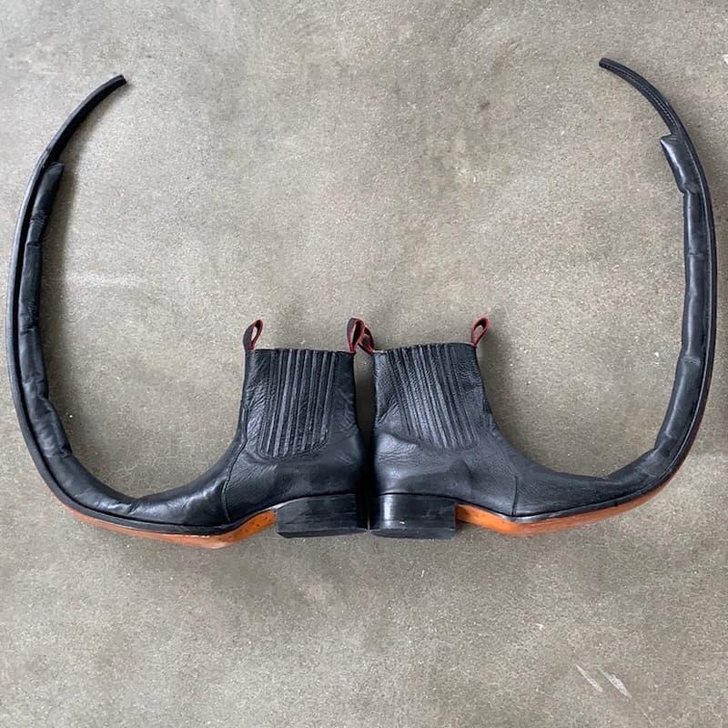 botas puntiagudas Comme des Garcons