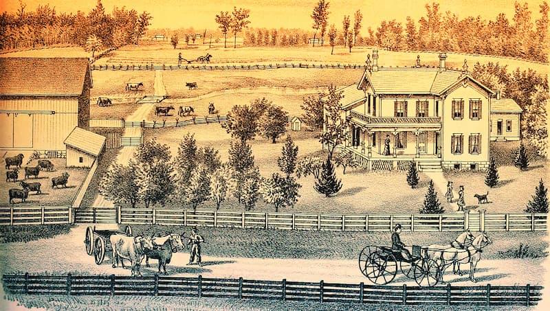 granja en 1800