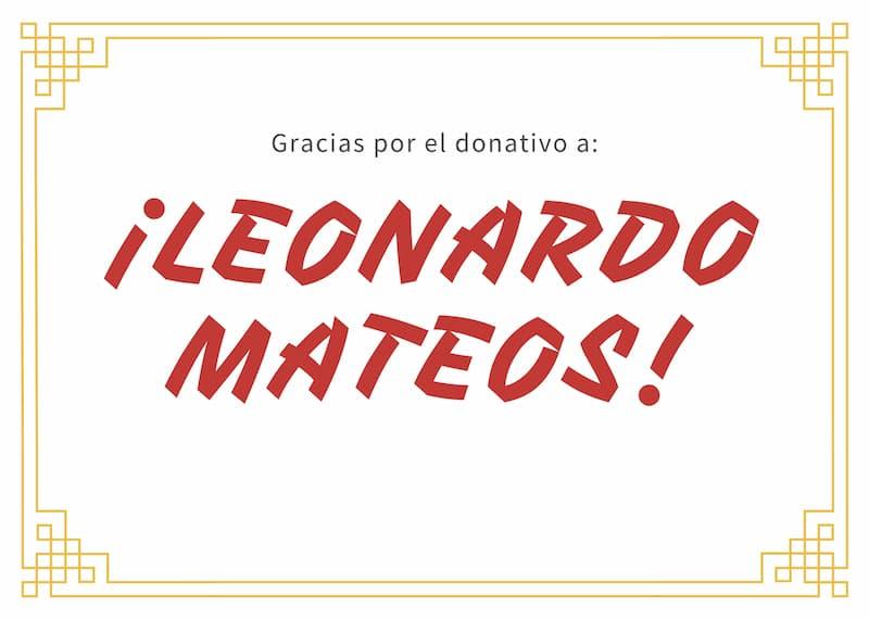 Gracias por el donativo a