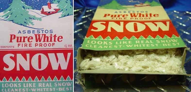 Pure White Asbesto nieve artificial