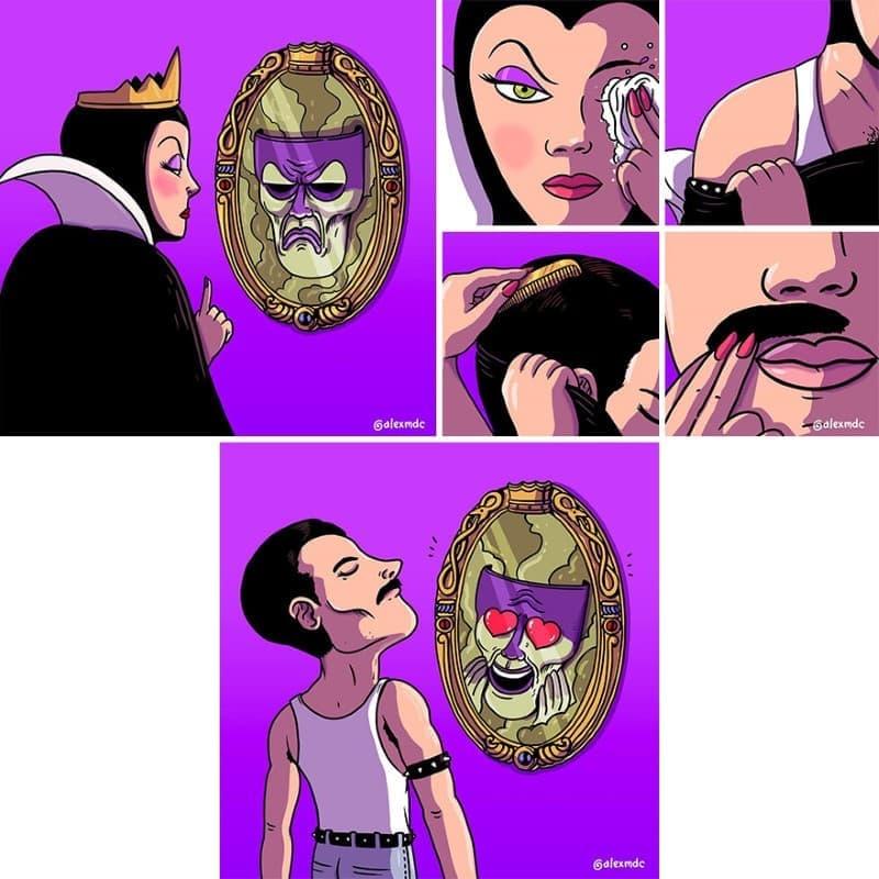 ilustraciones personajes cultura pop (6)