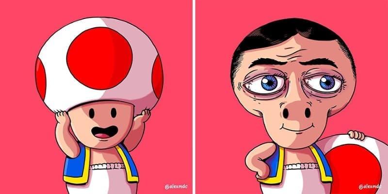 ilustraciones personajes cultura pop (9)