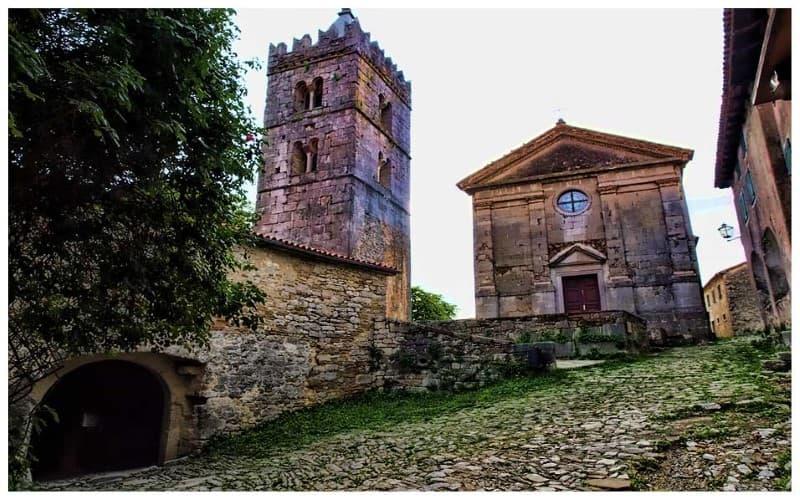 arquitecturs medieval en Hum Croacia
