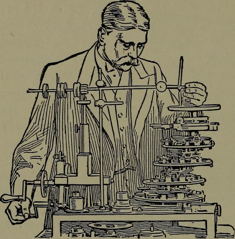 cientifico y su maquina