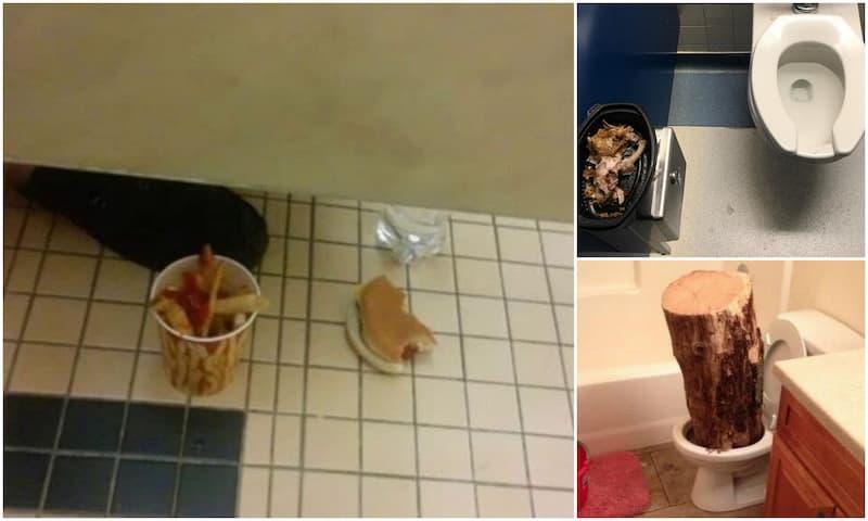 hallazgos asquerosos y extraños en baños públicos(1)