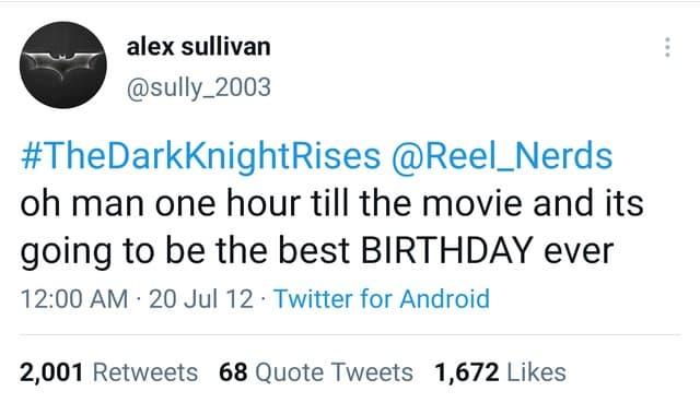 ultimo tweet de Alex Sullivan