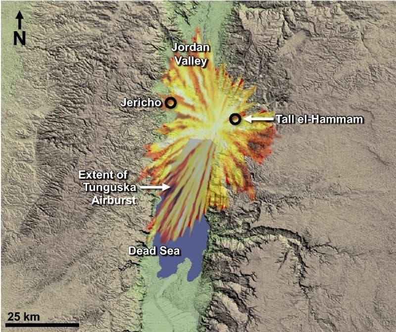 extension de la destruccion en Tall el Hammam