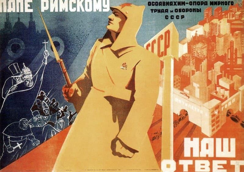 propaganda de los sovieticos contra la religion